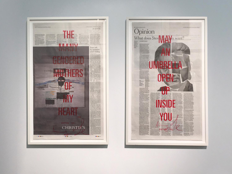 ストリートなイベント【東京】CHOPPED LIVER PRESS展 ニューヨーク・タイムズ紙をアートポスターへ!?