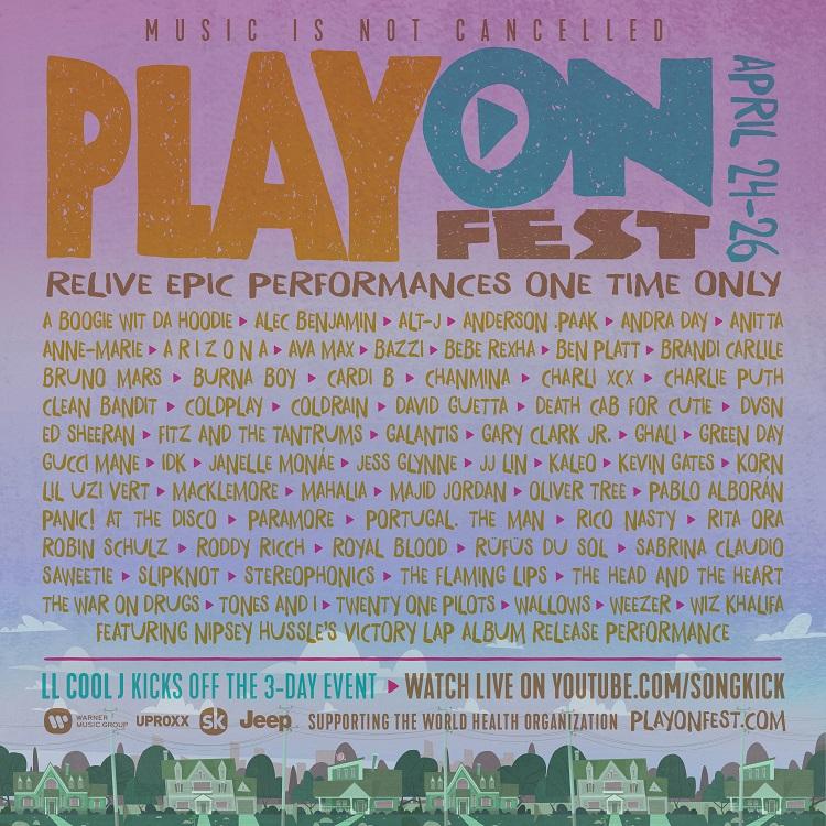ストリートなイベント【ネット配信】PlayOn Fest おうち時間に最適!「COVID-19連帯対応基金」を支援するバーチャル・ミュージック・フェスティバル開催!