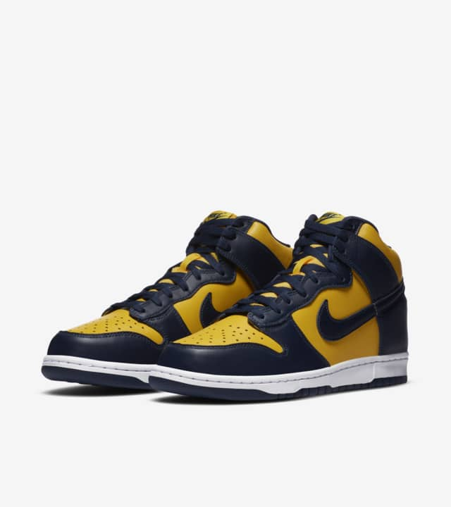 大学バスケ「NIKE DUNK HIGH MAIZE AND BLUE」公立の雄