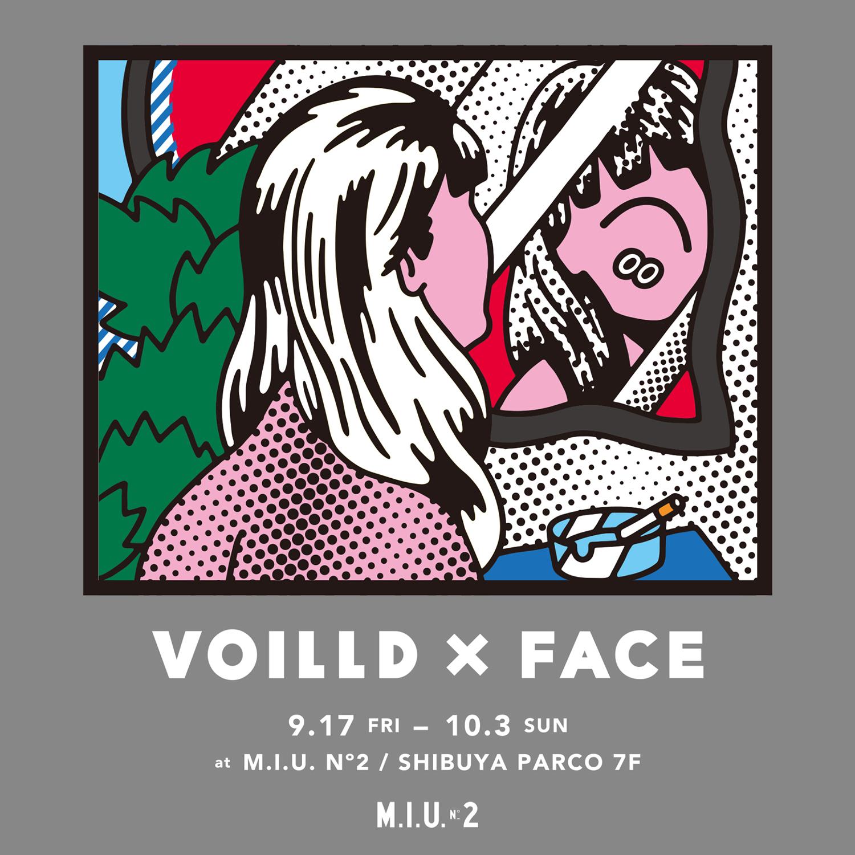 ストリートなイベント【東京】VOILLD × FACE POP UP STORE at M.I.U. No2 コラボレーションによって誕生したスウェットが発売!